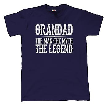 Vectorbomb, Grandad, The Man, The Myth, The Legend, Mens Funny T Shirt