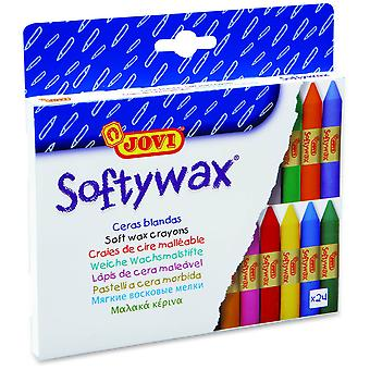 Jovi Cajita 24 Barras Cera Softywax (Toys , School Zone , Drawing And Color)