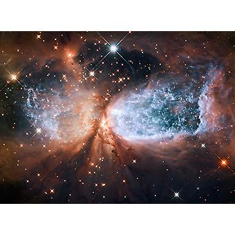 Hubble Telescope - Star-forming region S106 Poster Print Giclee