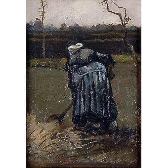 Vincent Van Gogh - Peasant Woman by the Digging, 1885 Poster Print Giclee