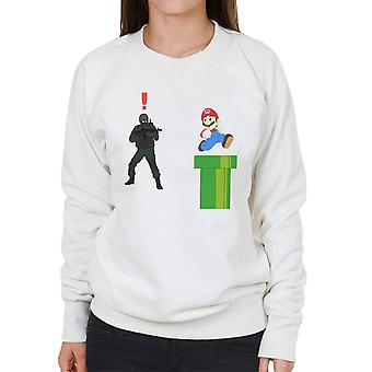 Metal Gear Solid Enemy Soldier Alert Super Mario Women's Sweatshirt
