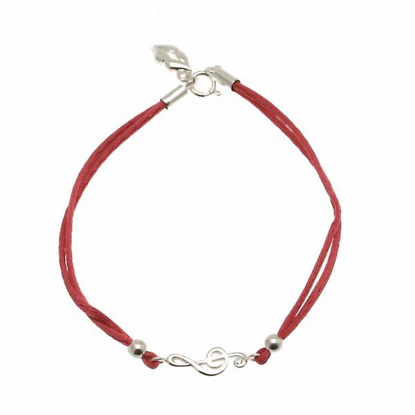 W.A.T Sterling Silver Treble Clef Friendship Bracelet