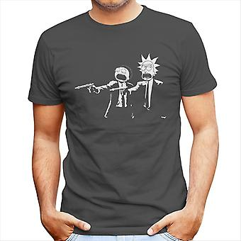 Rick And Morty Pulp Fiction Men's T-Shirt