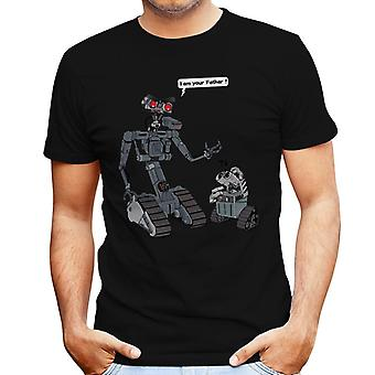 I Am Yor Father Number Johnny 5 Wall E Short Circuit Men's T-Shirt
