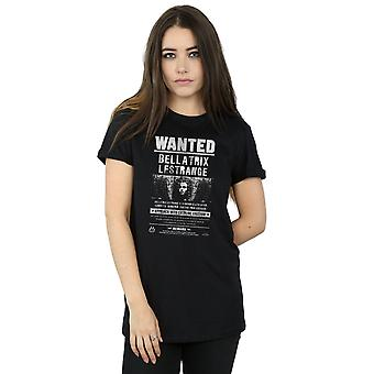 Harry Potter Women's Bellatrix Lestrange Wanted Boyfriend Fit T-Shirt