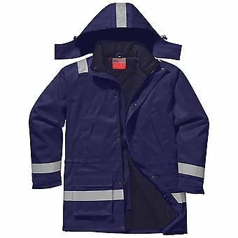 Portwest - resistente al fuego Hi-Vis seguridad ropa de trabajo antiestática chaqueta