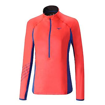 Mizuno AW16 Womens Breath Thermo Premium Running Windtop Small Pink