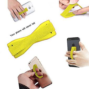ONX3 (Yellow) Universal Anti-Slip Elastic Finger Mobile Phone Grip Holder For  Vodafone Smart N9