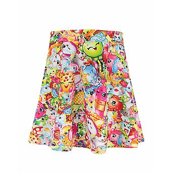 Shopkins Childrens/Girls Official All-Over Character Design Skirt