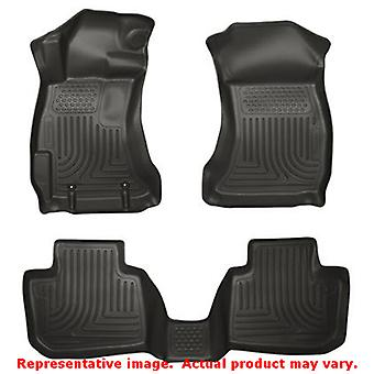 Husky Liners 98841 Black WeatherBeater Front & 2nd Seat FITS:SUBARU 2010 - 2012