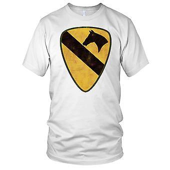 US Army 1st Cavalry Division schouder Kids T Shirt met mouwen Insignia Grunge Effect