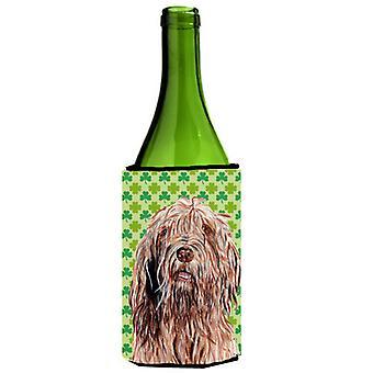 Día botella de vino bebidas aislador Hugge Otterhound Lucky trébol de San Patricio
