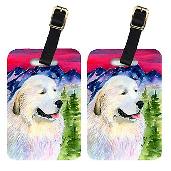 Carolines Treasures  SS8473BT Pair of 2 Great Pyrenees Luggage Tags