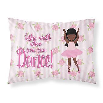Ballet Long Hair African American Fabric Standard Pillowcase