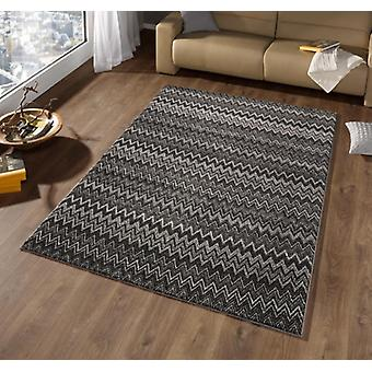 Design velour carpet mission grey black | 102278