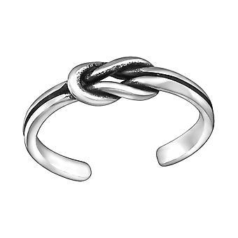 Nudo - 925 anillos de plata del dedo del pie - W29394X