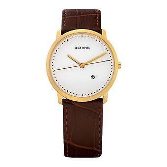 Bering Unisex Watch wristwatch slim classic - 11132-534 leather