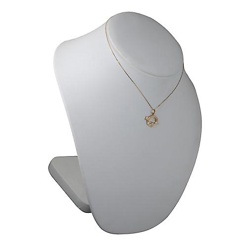 9ct Gold 16x23mm Tara Pendant with a curb Chain 16 inches Only Suitable for Children