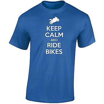 Keep Calm And Ride Bikes Mens T-Shirt 10 Colours (S-3XL) by swagwear