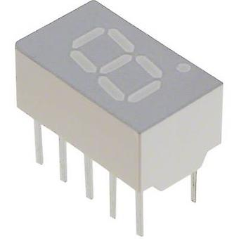 Seven-segment display Red 7.62 mm 1.8 V No. of digits: 1