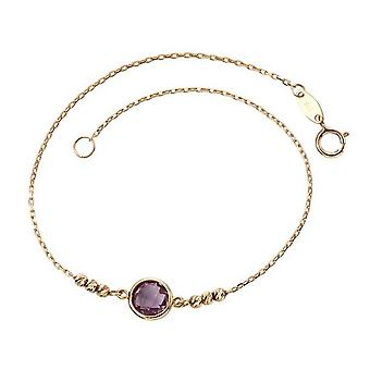 Elements Gold Amethyst Bezel Set Bracelet - Purple/Gold