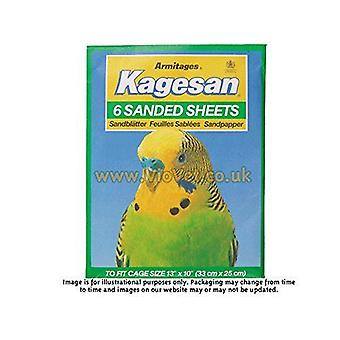 Kagesan Sanded Sheets Number 4 Green 32 x 25cm, pack of 6