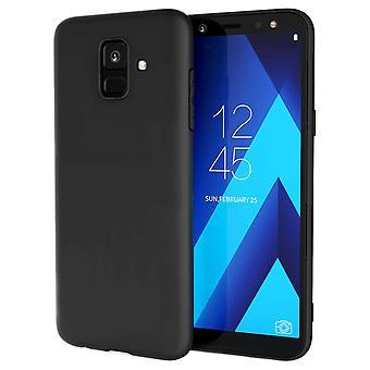 Samsung Galaxy A6 (2018) Matt TPU Gel - Solid svart