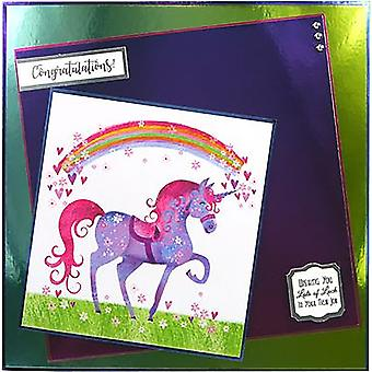 Hunkydory Mirri Super-Reflective A4 Cardstock 8/Pkg-Purple MCD25