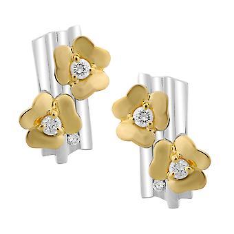 Orphelia Silver 925 Earring Flower Gold  ZO-6039/1
