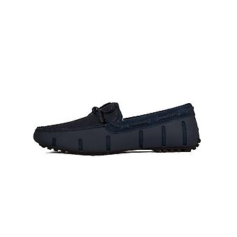 Swims Swims Navy Braided Lace Loafer