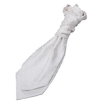 Ivory Paisley Pre-Tied Wedding Cravat for Boys