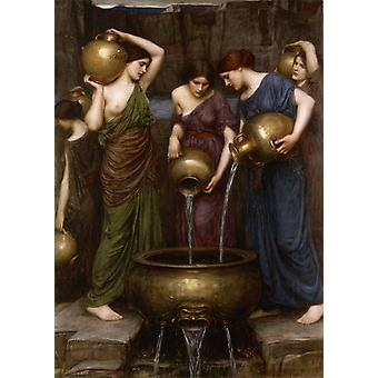 The Danaides, John William Waterhouse, 40x60cm with tray