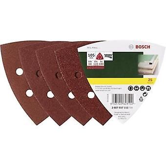Bosch Accessories 2607017111 Delta grinder blade set Hook-and-loop-backed, Punched Grit size 60, 80, 180 Width across c
