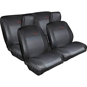 Eufab 28059 Seat covers Cotton, Polyester Black Back seat, Drivers seat, Passenger seat