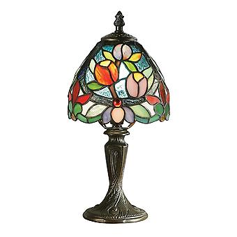 Interiors 1900 Sylvette Flower Buds Miniature Bedside Tiffany Lamp