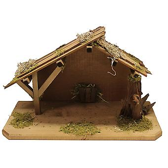 Crib Nativity scene wood Nativity stable Benedict hand work for characters up to 11 cm