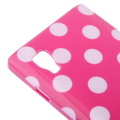 Schutzhülle TPU Punkte Case für Handy LG Optimus L9 / P760 pink