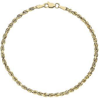 Cord bracelet 375 gold yellow gold gold bracelet 19 cm