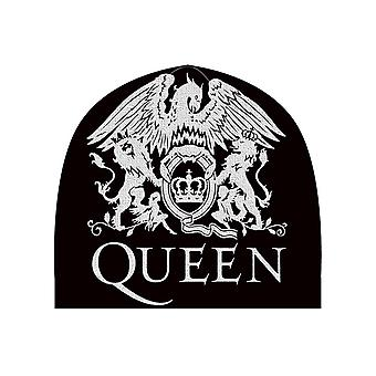 Queen Beanie Hat Classic Lion Crest Band Logo Official Mens New Black One Size