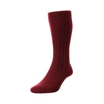 Waddington luxury men's cashmere dress socks in port | By Pantherella
