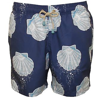 Oiler & Boiler Tuckernuck Mid-Length Sea Shell Swim Shorts, Navy