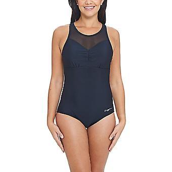 Zoggs Marengo Mesh Clip back Swimsuit Black