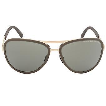 Porsche Design Design P8567 B Aviator Sunglasses | Rose Gold Frame | Brown Lens