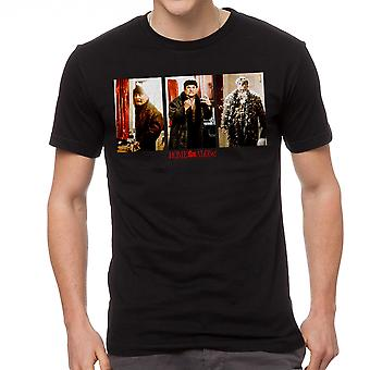 Home Alone Fire & Feathers Booby Trap Men's Black T-shirt