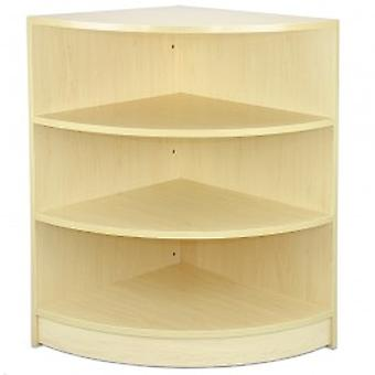 Maple Shop Shelving Corner Unit