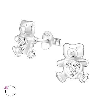 Beer - 925 Sterling Zilver Crystal Ear Studs - W32925x