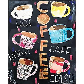 Impressão de Poster Collage café por Cindy Willingham