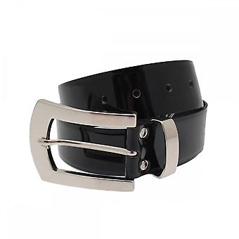 Stephen Collins Patent Leather Belt With Large Buckle