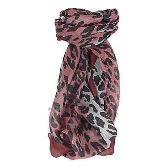 Mulberry Silk Contemporary Square sjaal Vansdar wijn door Pashmina & Silk
