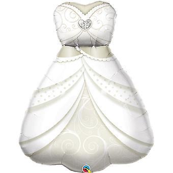 Qualatex bröllop klänning Supershape folie ballong 3ft